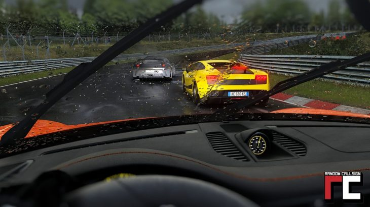 Nordschleife track day in STORM CONDITIONS – Assetto Corsa CSP rain FX