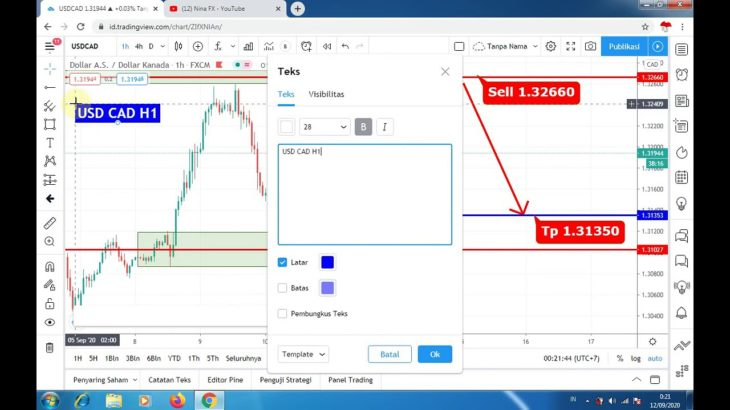 USDCAD Daily Analysis Forecast for Monday September 14, 2020 by Nina Fx