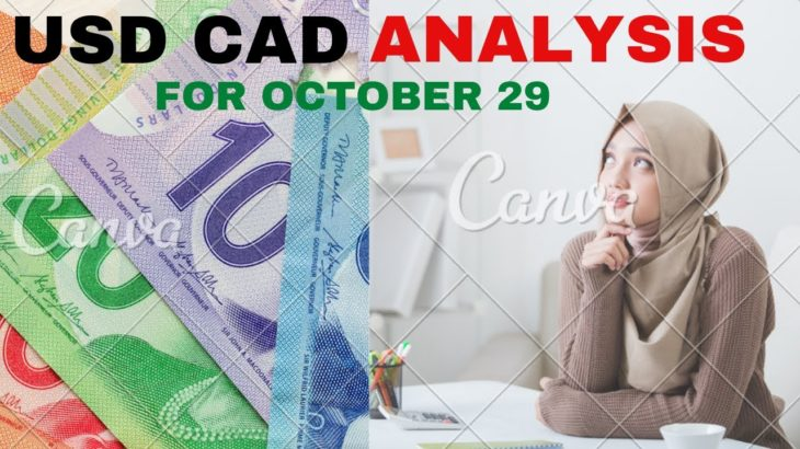 USDCAD Daily Analysis Forecast for Thursday October 29, 2020 by Nina Fx