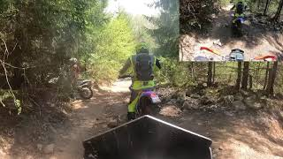 Zeromotorcycles FX (electric Enduro) and Beta xTrainer rock climbing fun