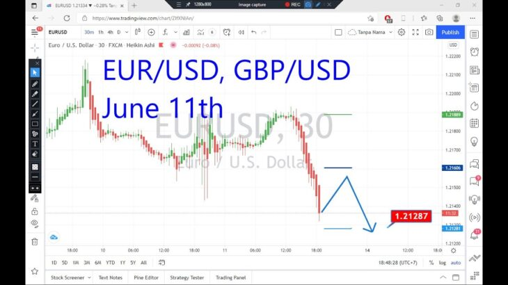 EURUSD and GBPUSD Intraday Analysis on June 11, 2021 by Nina Fx